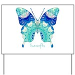 Bliss Butterfly Yard Sign
