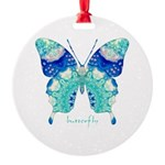 Bliss Butterfly Round Ornament