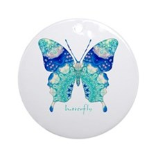 Bliss Butterfly Ornament (Round)