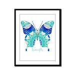 Bliss Butterfly Framed Panel Print