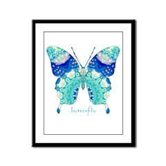 Bliss Butterfly Framed Panel Print