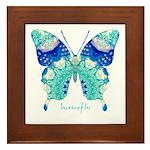 Bliss Butterfly Framed Tile