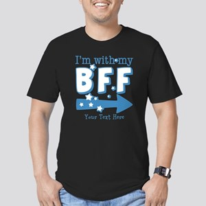CUSTOM TEXT Im With My BFF Men's Fitted T-Shirt (d