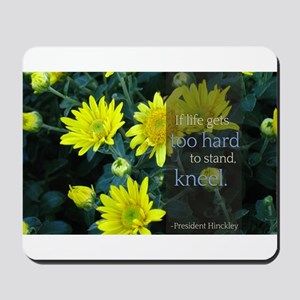 LDS Quotes- If life gets too hard to stand... Mous