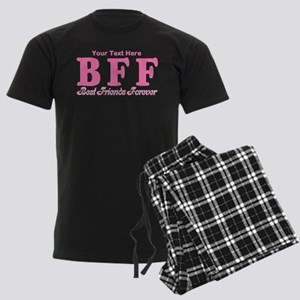 CUSTOM TEXT Best Friends Forever Men's Dark Pajama
