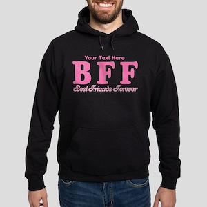 CUSTOM TEXT Best Friends Forever Hoodie (dark)