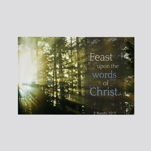LDS Quotes- Feast upon the words of Christ Rectang