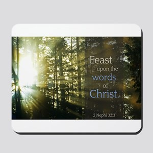 LDS Quotes- Feast upon the words of Christ Mousepa