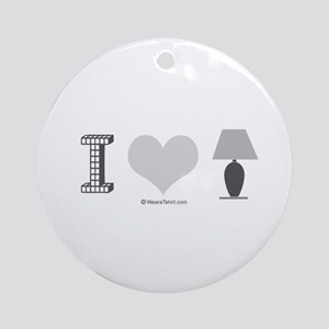 I heart Lamp -  Ornament (Round)