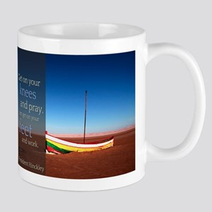 LDS Quotes- President Hinckley and Work Mug
