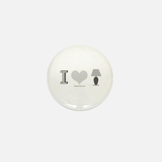 I heart Lamp - Mini Button