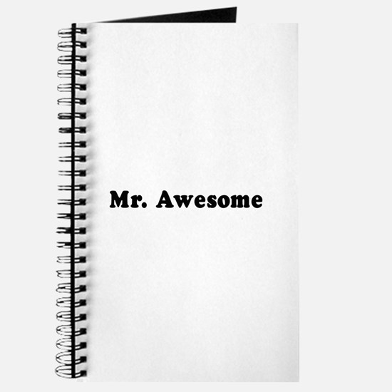 Mr. Awesome - Journal