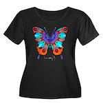 Xtreme Butterfly Women's Plus Size Scoop Neck Dark