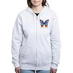 Xtreme Butterfly Women's Zip Hoodie