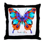 Xtreme Butterfly Throw Pillow