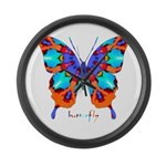 Xtreme Butterfly Large Wall Clock