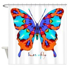 Xtreme Butterfly Shower Curtain