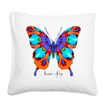 Xtreme Butterfly Square Canvas Pillow
