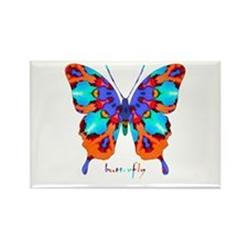 Xtreme Butterfly Rectangle Magnet