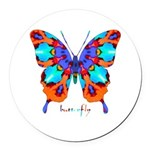Xtreme Butterfly Round Car Magnet