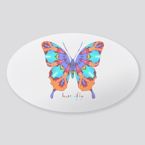 Xtreme Butterfly Sticker (Oval)