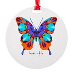 Xtreme Butterfly Round Ornament