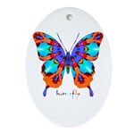 Xtreme Butterfly Ornament (Oval)