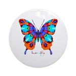 Xtreme Butterfly Ornament (Round)