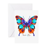 Xtreme Butterfly Greeting Card