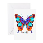 Xtreme Butterfly Greeting Cards (Pk of 20)