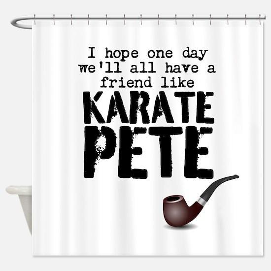 karate pete Shower Curtain