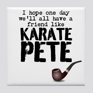 karate pete Tile Coaster