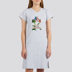 Irish American Celtic Cross Women's Nightshirt