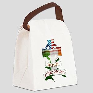 Irish American Celtic Cross Canvas Lunch Bag