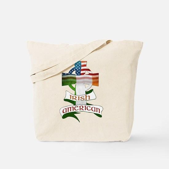Irish American Celtic Cross Tote Bag