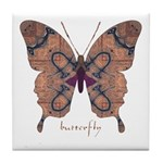 Union Butterfly Tile Coaster