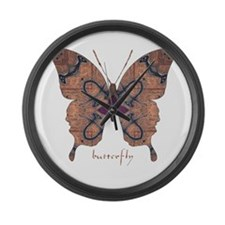 Union Butterfly Large Wall Clock