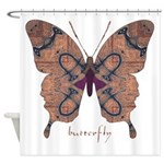 Union Butterfly Shower Curtain