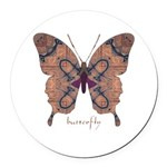 Union Butterfly Round Car Magnet