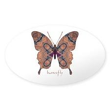 Union Butterfly Sticker (Oval)