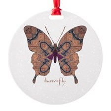 Union Butterfly Round Ornament