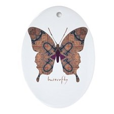 Union Butterfly Ornament (Oval)