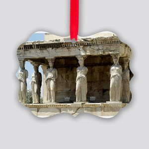 caryotide porch - horizontal Picture Ornament