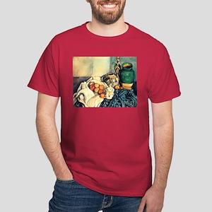 Paul Cezanne Still Life With Apples Dark T-Shirt