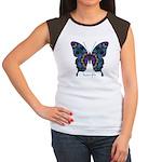 Festival Butterfly Women's Cap Sleeve T-Shirt