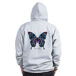 Festival Butterfly B Zip Hoodie