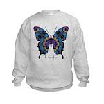 Festival Butterfly Kids Sweatshirt