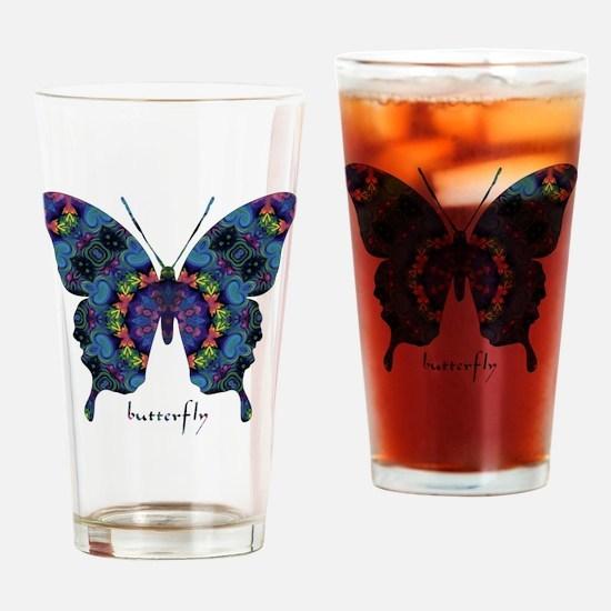 Festival Butterfly Drinking Glass