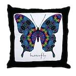 Festival Butterfly Throw Pillow