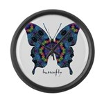 Festival Butterfly Large Wall Clock